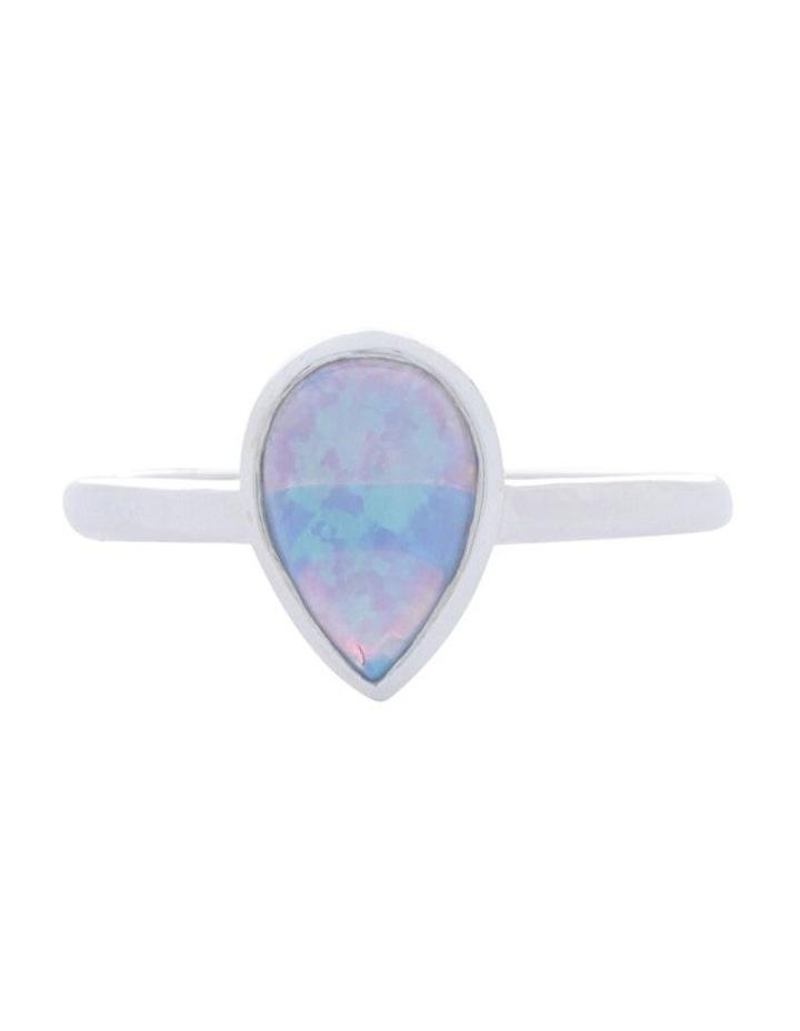 Sterling Silver Pear Czelline Opal Fine Ring image 1