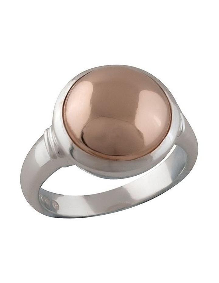 Large Round Rose-Gold-Filled Ring image 1