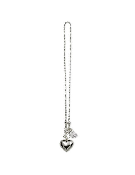 Sterling Silver Heart Pendant with Fob Clasp image 2