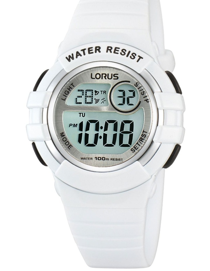 R2383HX-9 White Digital Sports Watch image 1