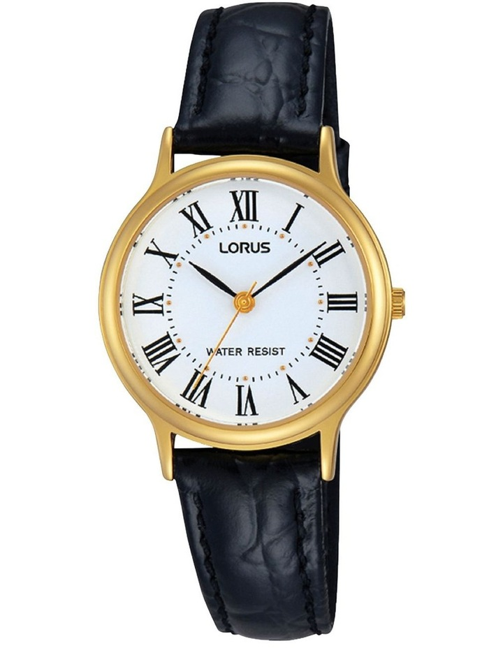 Rrs58Vx-9 Gold Roman Numeral Dress Watch image 1