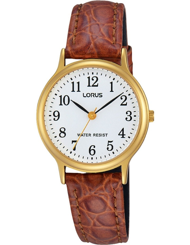 RRS60VX-9 Ladies Gold Leather Strap Watch image 1