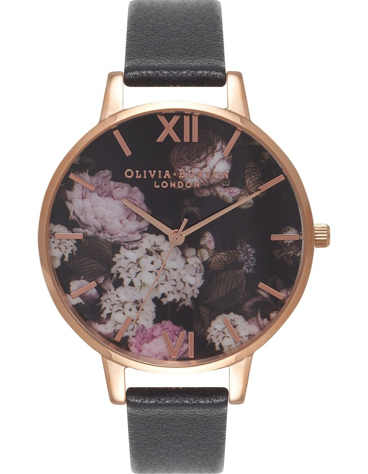 Winter Garden Black & Rose Gold Watch image 1