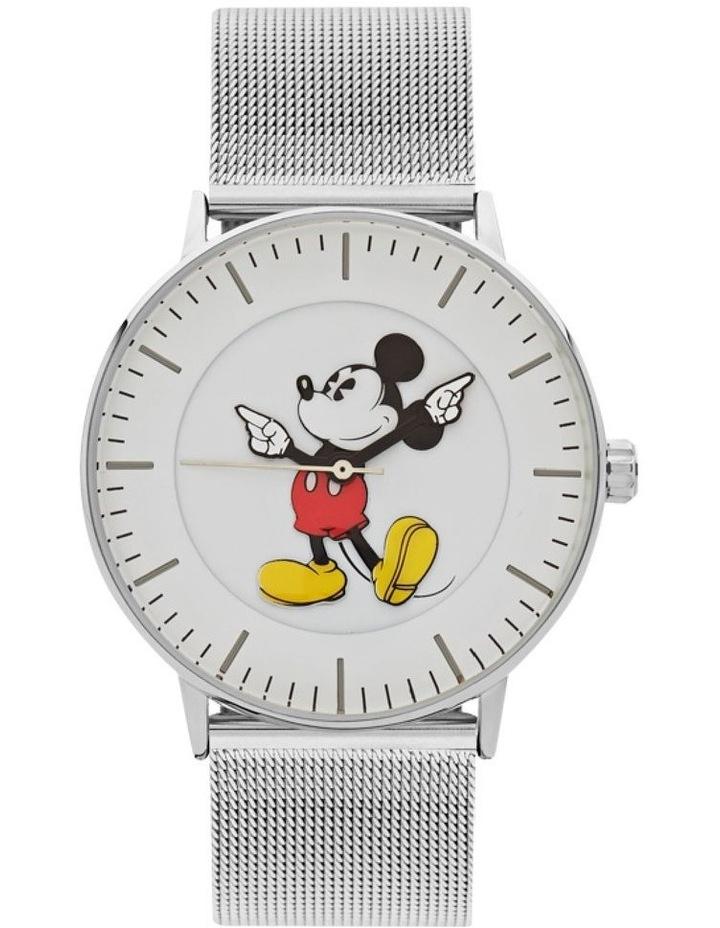 Formal Mickey 40mm Silver Mesh image 1