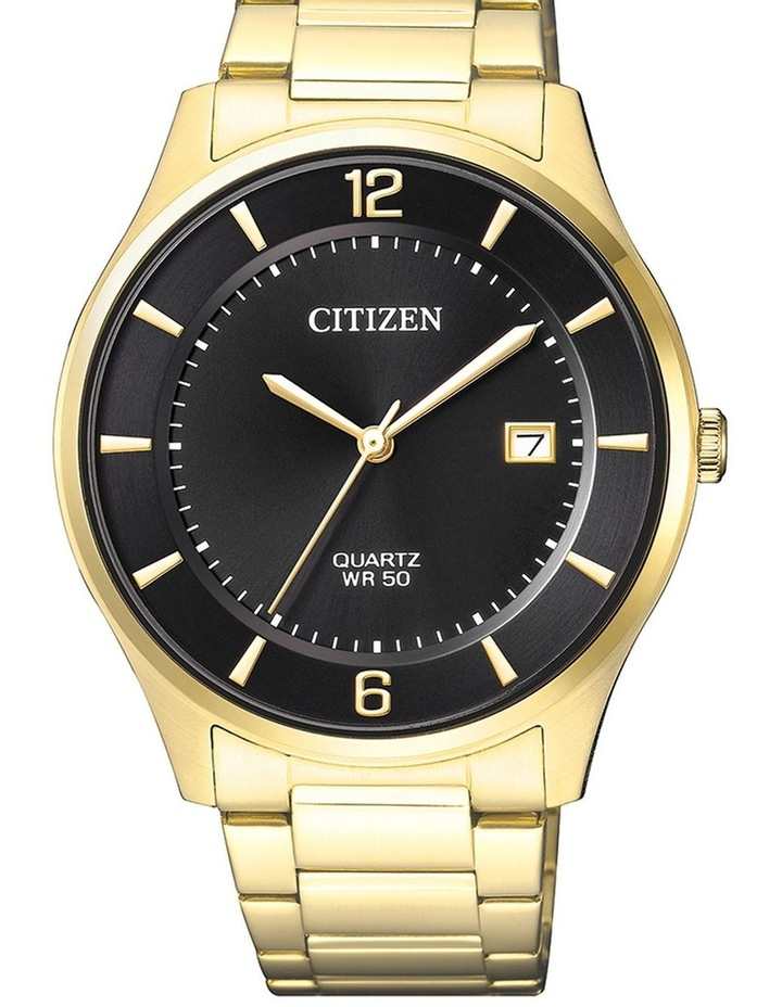 BD0043-83E Stainless Steel Quartz Date Watch in Gold image 1