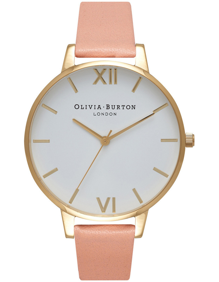 Big Dial Dusty Pink & Gold Watch image 1