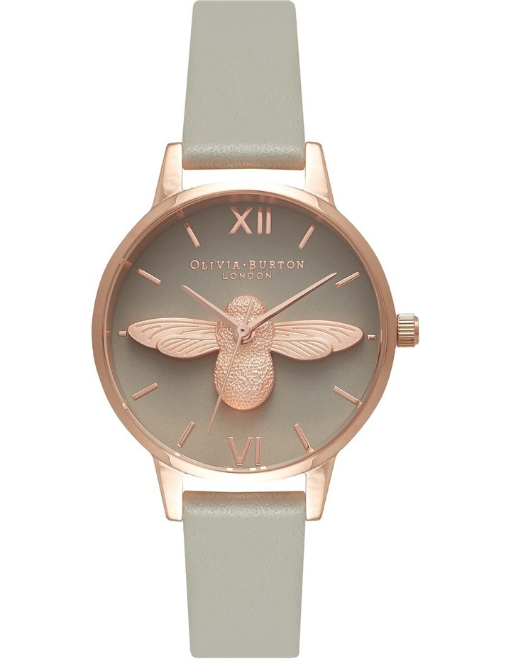 OB15AM77 Midi Moulded Bee Grey dial & Rose Gold image 1