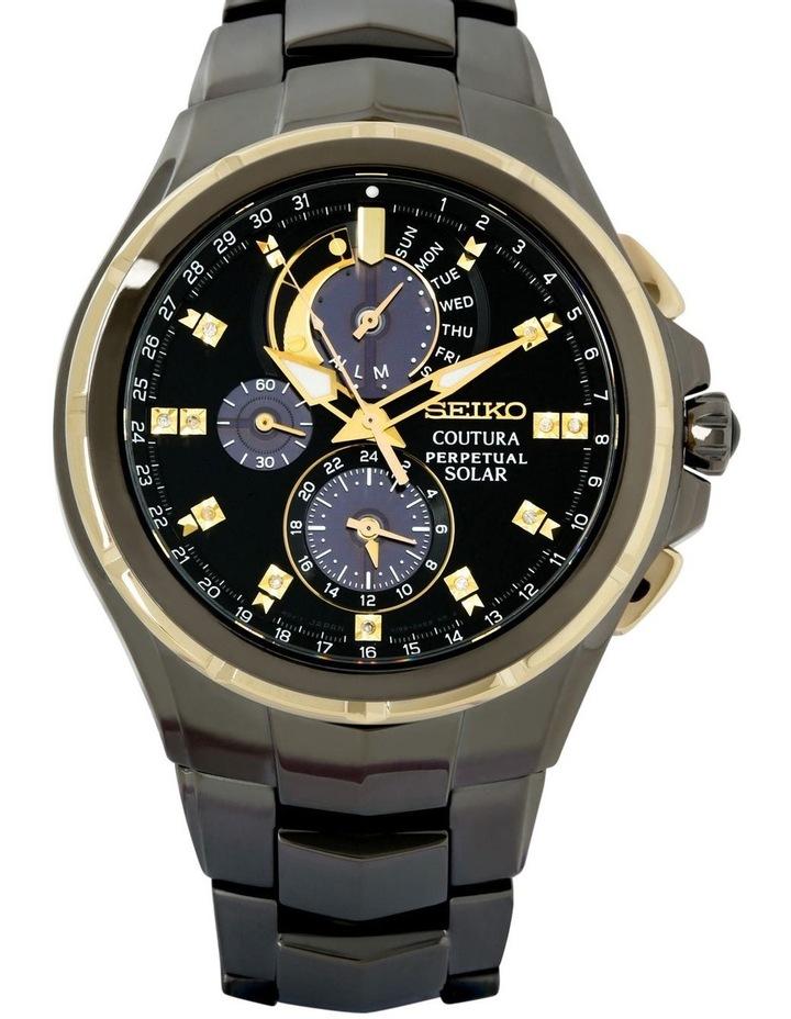 Ssc573P Black & Gold Coutura Solar Chronograph Sports/Dress Watch image 2