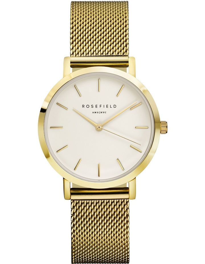 TWG-T51 33MM Tribeca White Dial with Gold Mesh image 1
