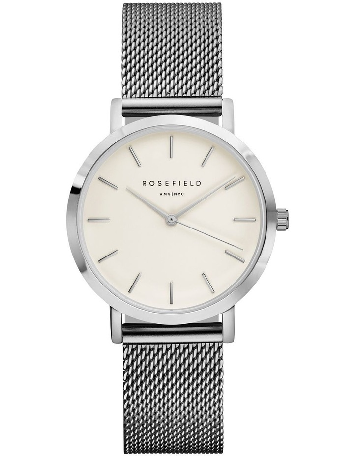 TWS-T52 33MM Tribeca White Dial with Silver Mesh image 1