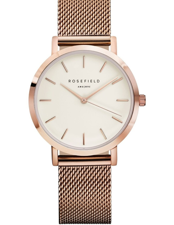 TWR-T50 33MM Tribeca White Dial with Rosegold Mesh image 1