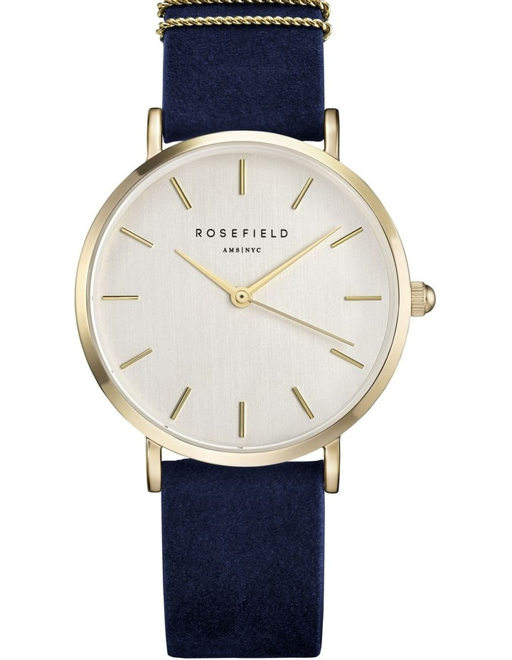 WBUG-W70 33MM West Village White Dial Gold Navy Suede image 1
