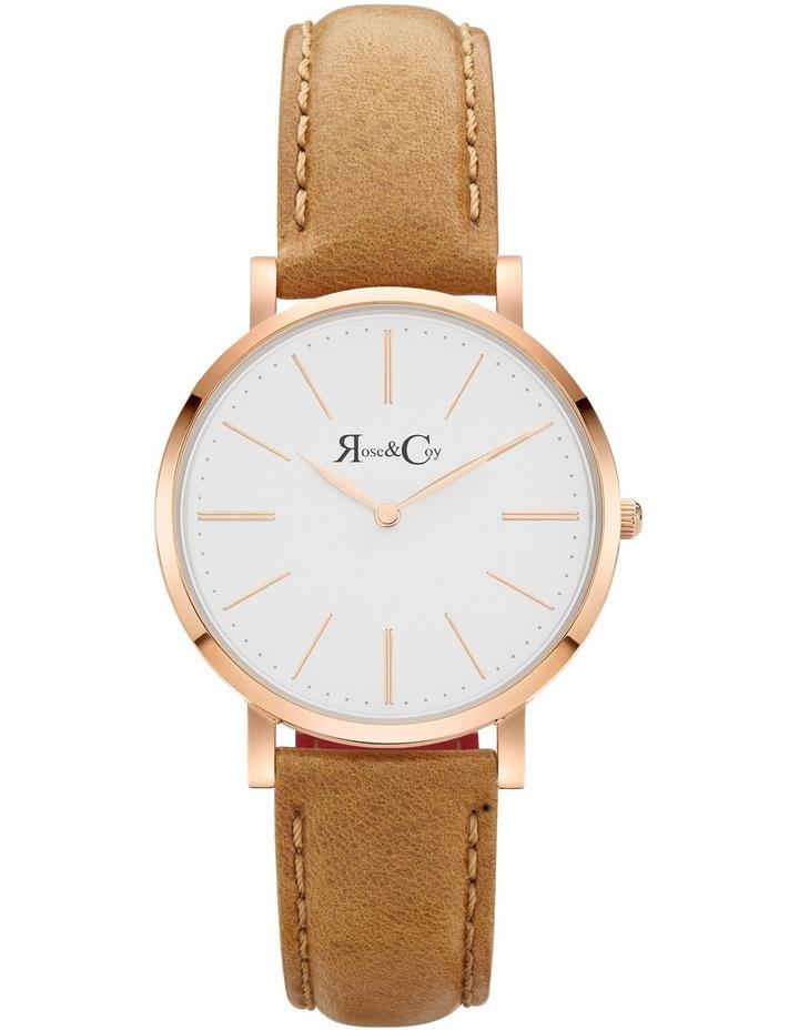 RCM0401 Mini Pinnacle Tan And Rose Gold Watch image 1