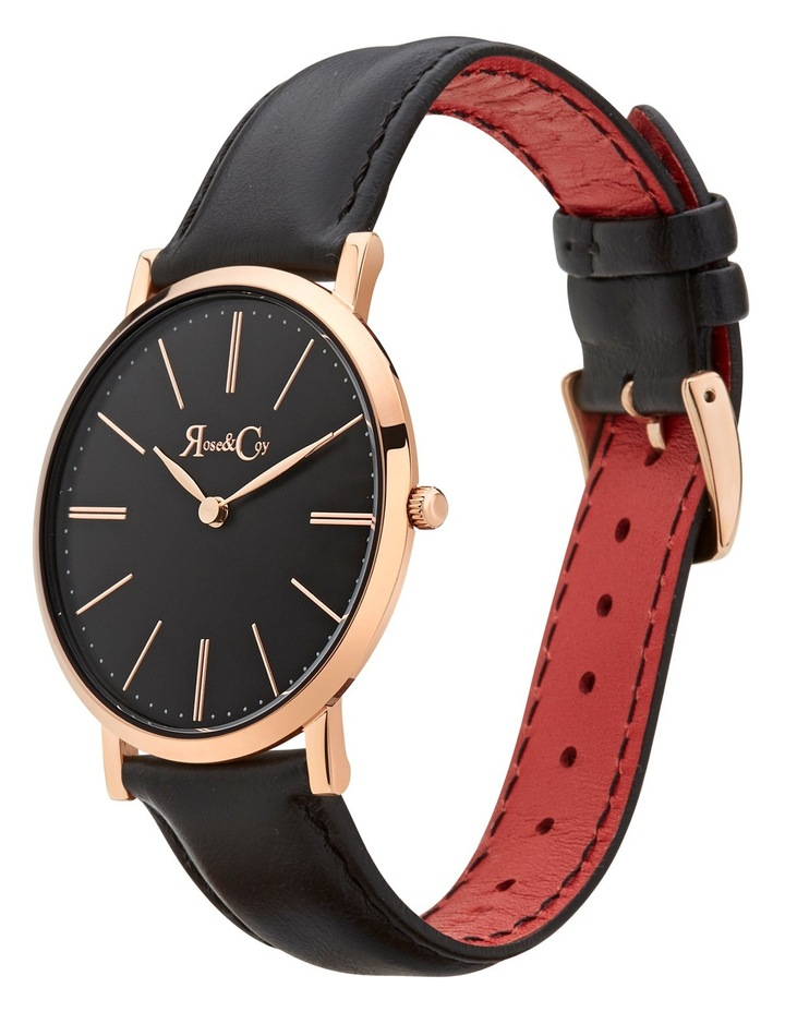 RC0103 Pinnacle Rose Gold And Black Watch image 2