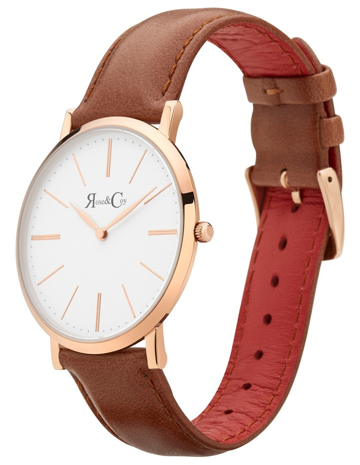 RC0501 Pinnacle Brown And Rose Gold Watch image 2