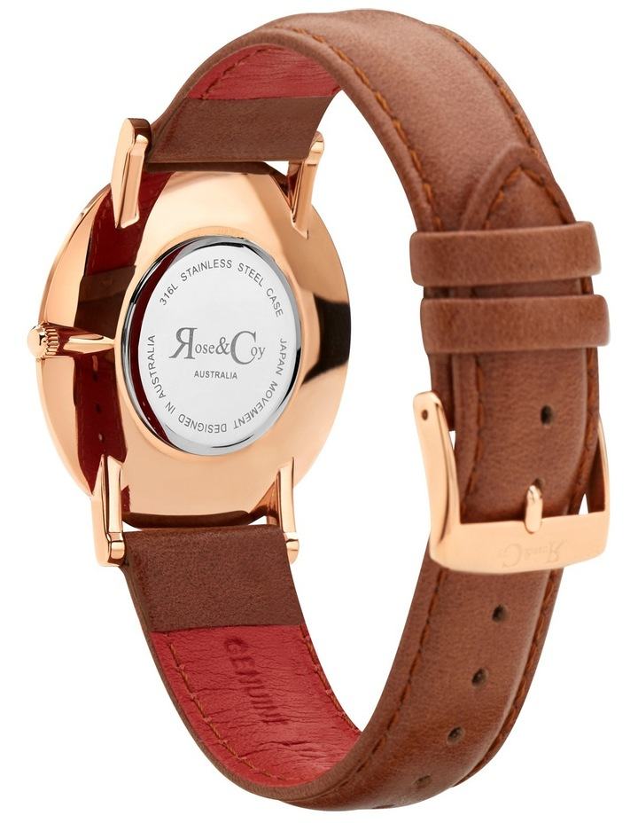 RC0501 Pinnacle Brown And Rose Gold Watch image 4