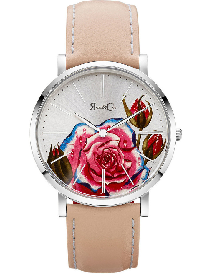 RCA0201 Art Series Pink Rose Silver And Peach Watch image 1