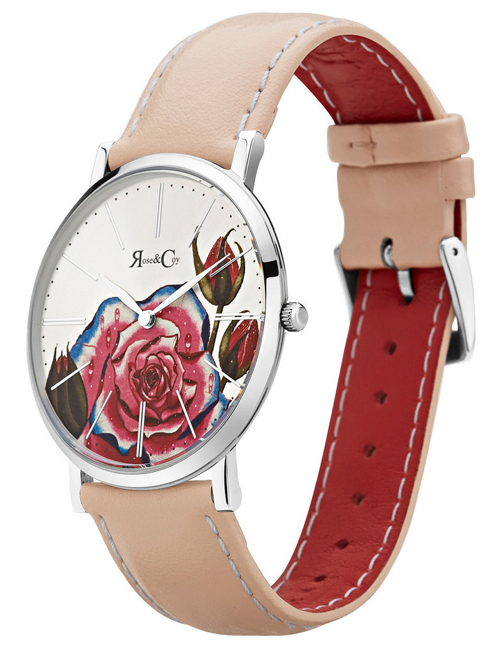 RCA0201 Art Series Pink Rose Silver And Peach Watch image 2