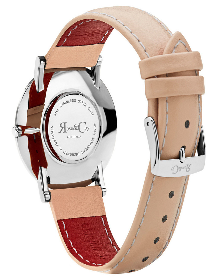 RCA0201 Art Series Pink Rose Silver And Peach Watch image 4