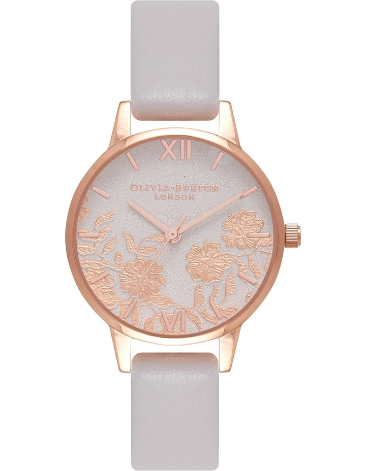 OB16MV69 Lace Detail  Blush And Rose Gold Watch image 1