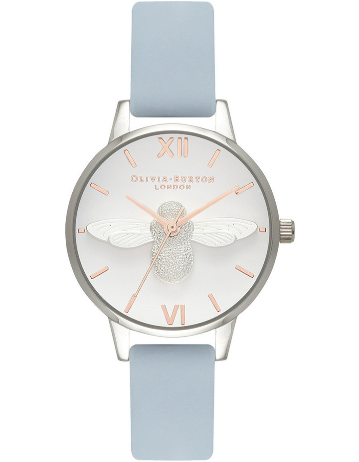 OB16AM125 3D Bee Silver Watch image 1
