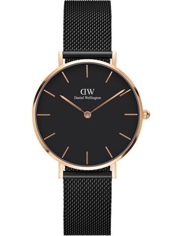 7937d4d28a4 Daniel Wellington DW00100201 Classic Petite Ashfield Black and Rose Gold  Watch