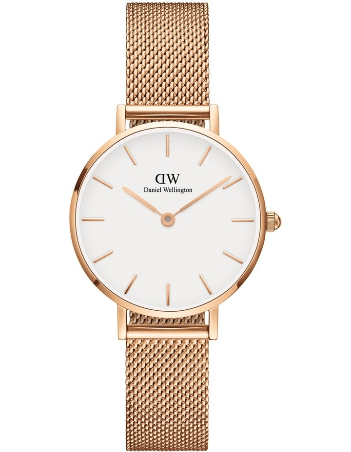 DW00100219 Petite 28mm Melrose White Dial Rose Watch image 1