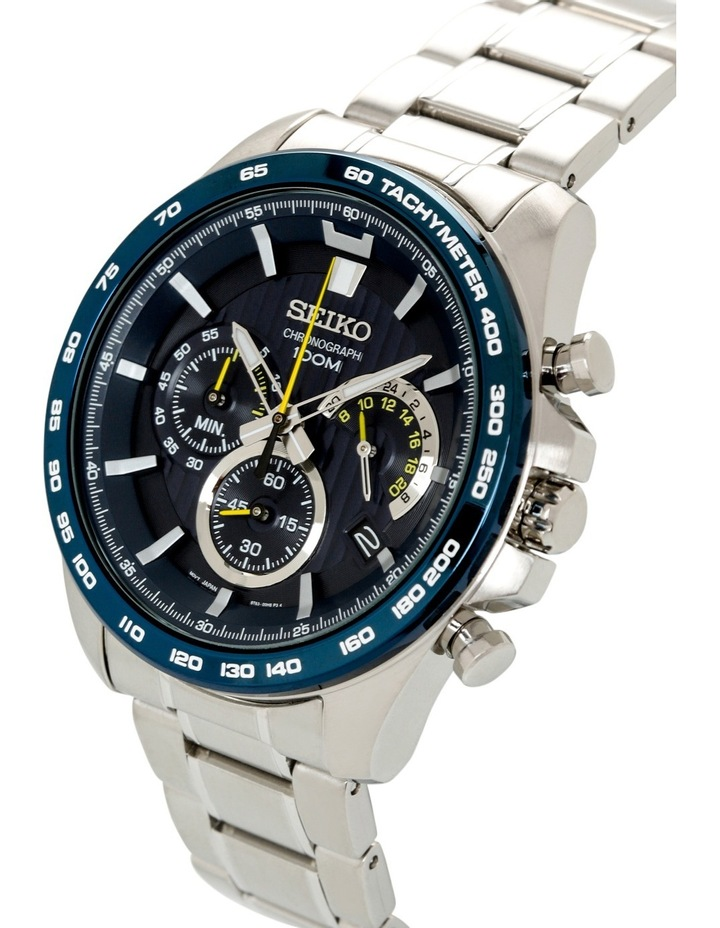 Silver & blue sports watch - SSB301P image 2