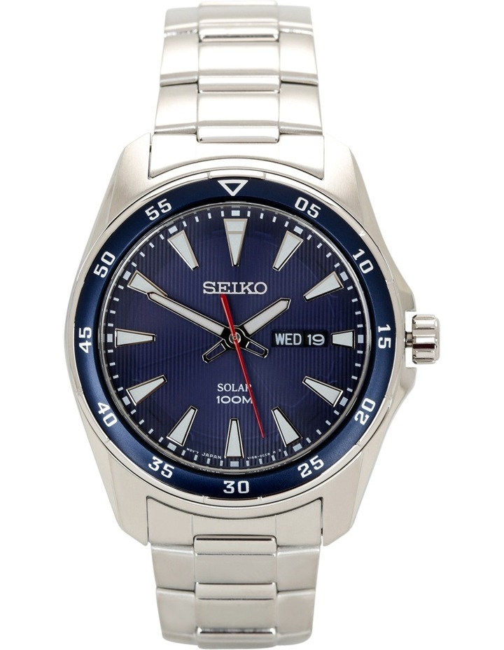 Silver & blue sports watch - SNE391P image 1