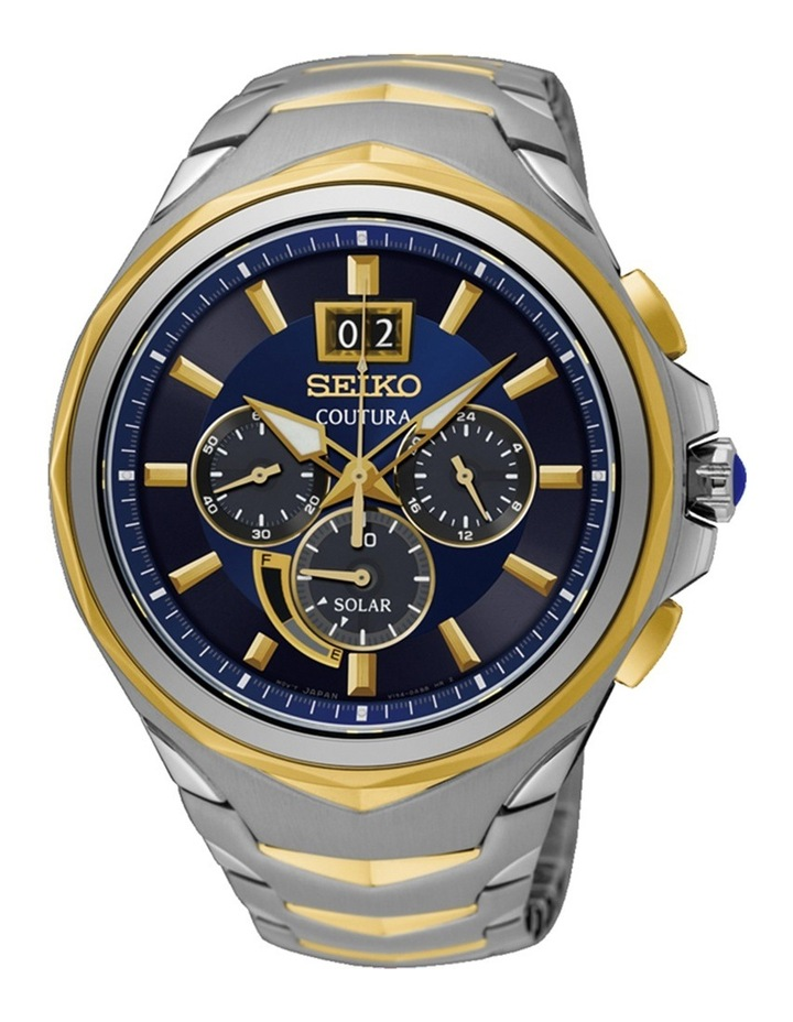 SSC642P two tone Coutura solar chronograph watch image 1