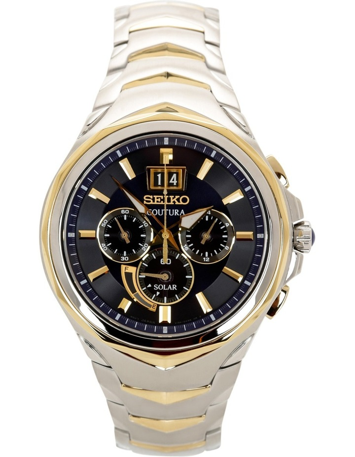 SSC642P two tone Coutura solar chronograph watch image 2