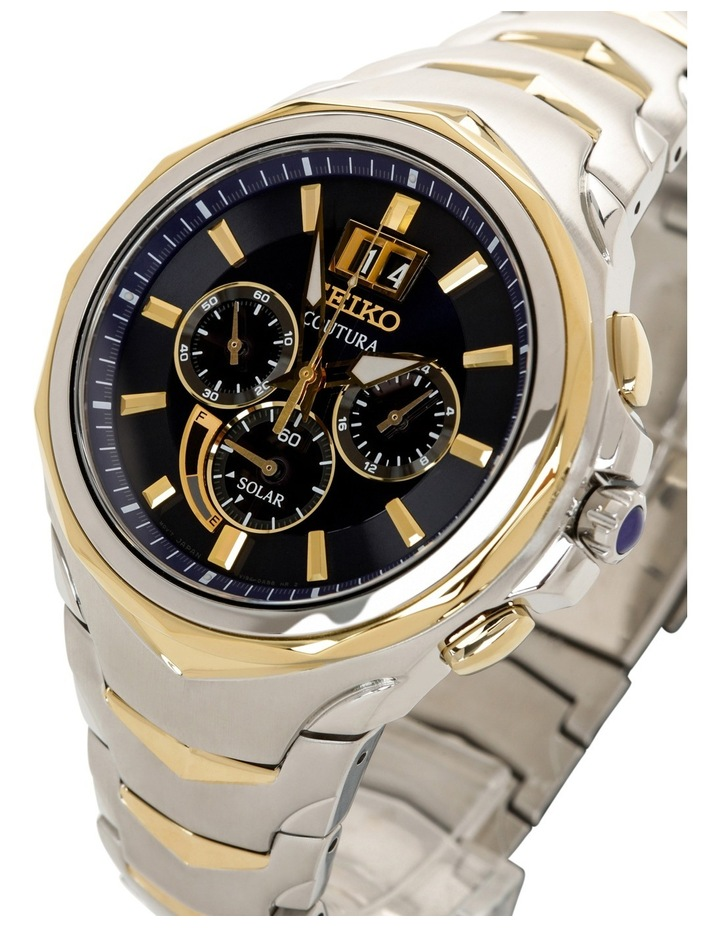SSC642P two tone Coutura solar chronograph watch image 3