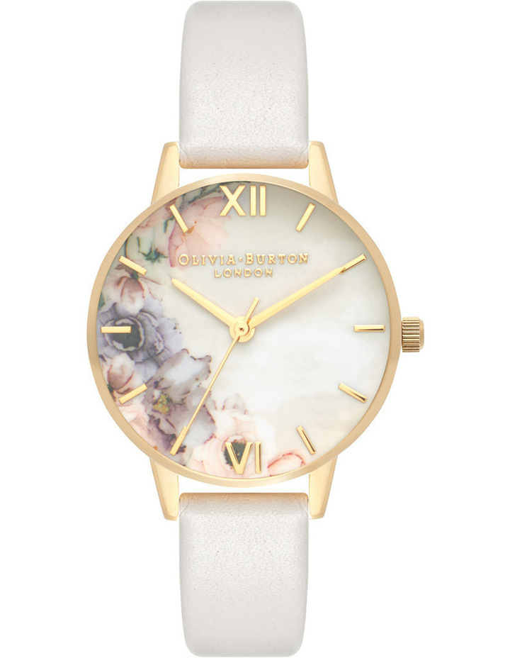Floral Design, Rose Gold Case, Blush Strap image 1