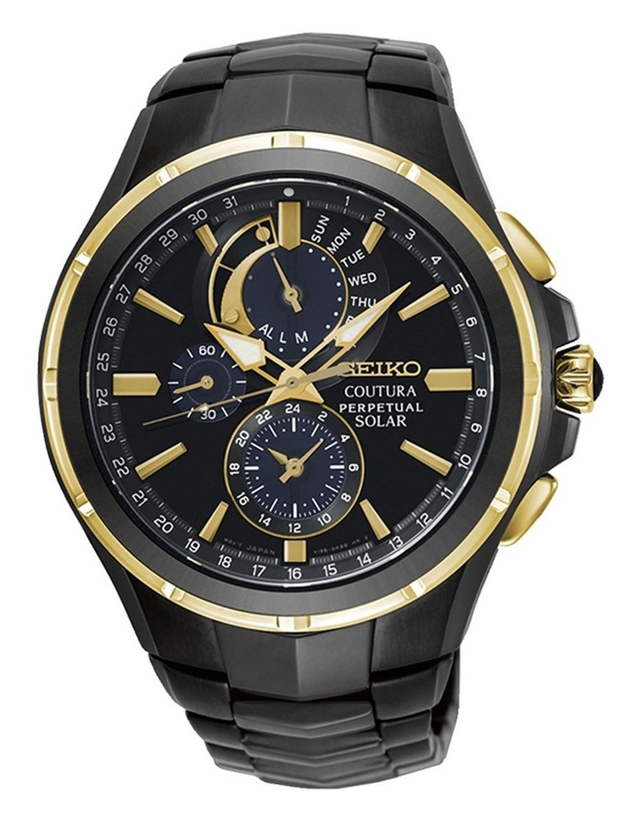 Ssc698P Black & Gold Coutura Solar Chronograph Sports/Dress Watch image 1