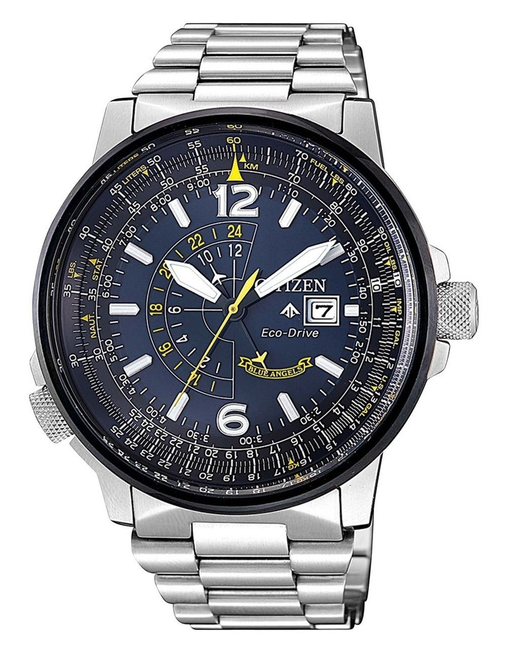 BJ7006-56L Blue Angels Silver Watch image 1