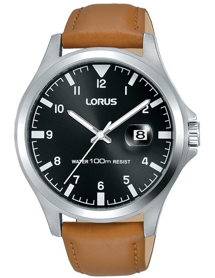 LORUS RH961KX-8 gents Silver & Tan sports watch image 1