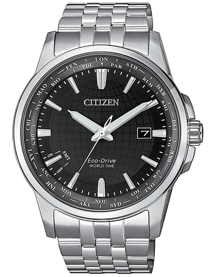 BX1001-89E World time Silver Watch image 1
