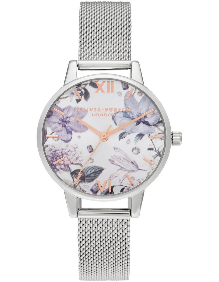 Bejewelled Florals Silver Watch image 1