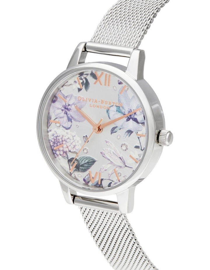 Bejewelled Florals Silver Watch image 2