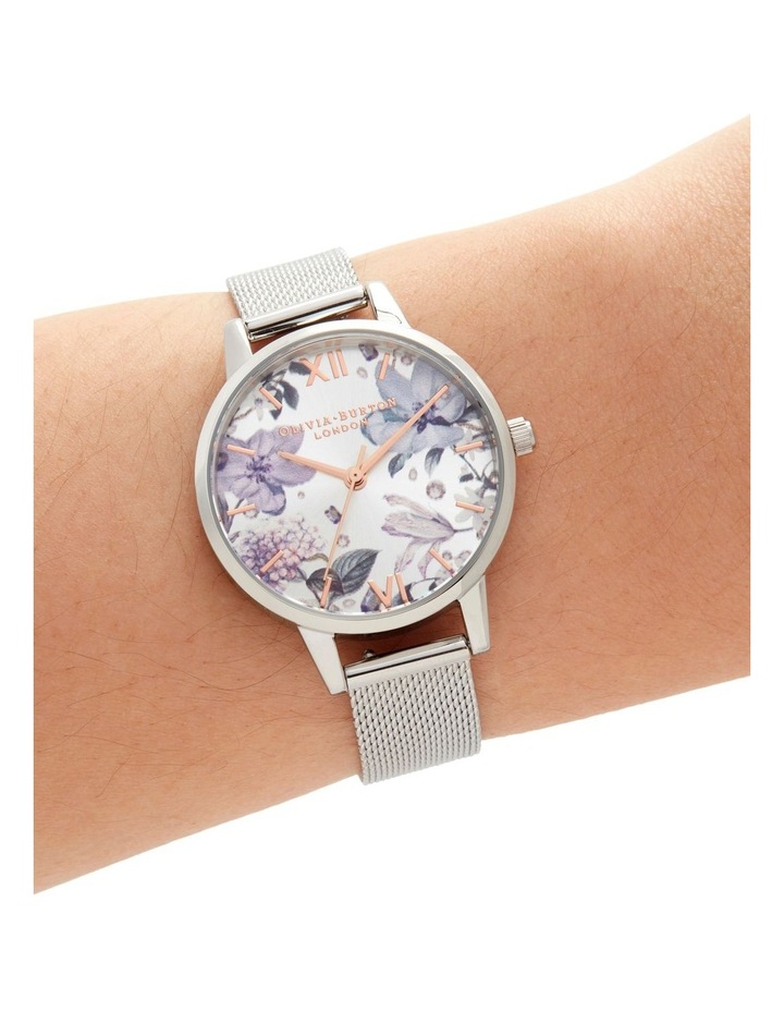 Bejewelled Florals Silver Watch image 4