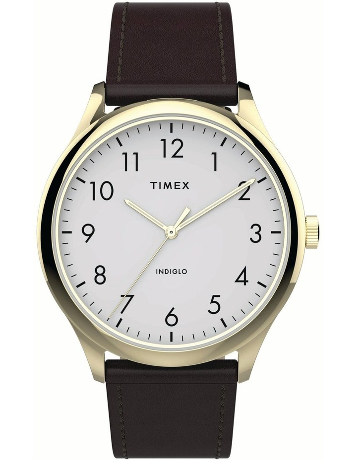 Timex TW2T71600 Easy Reader Brown Watch image 1