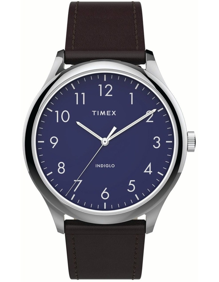 Timex TW2T72000 Easy Reader Brown Watch image 1