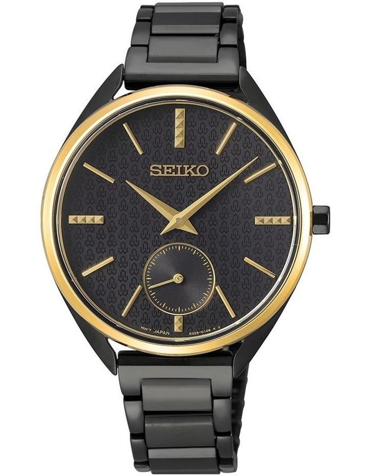 Ladies Black & Gold Dress Watch Seiko SRKZ49P image 1
