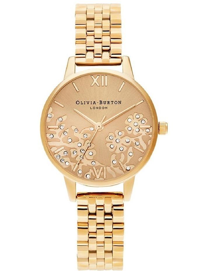 Ob16Mv105 Bejewelled Lace Gold Bracelet Watch image 1