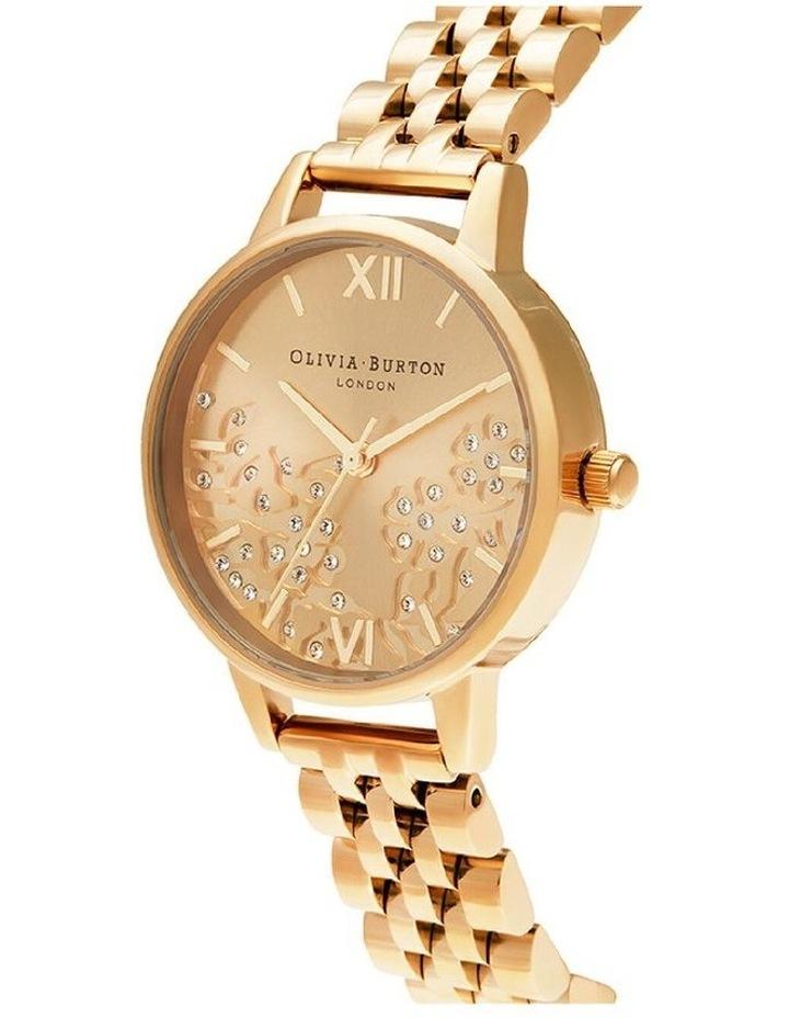 Ob16Mv105 Bejewelled Lace Gold Bracelet Watch image 2