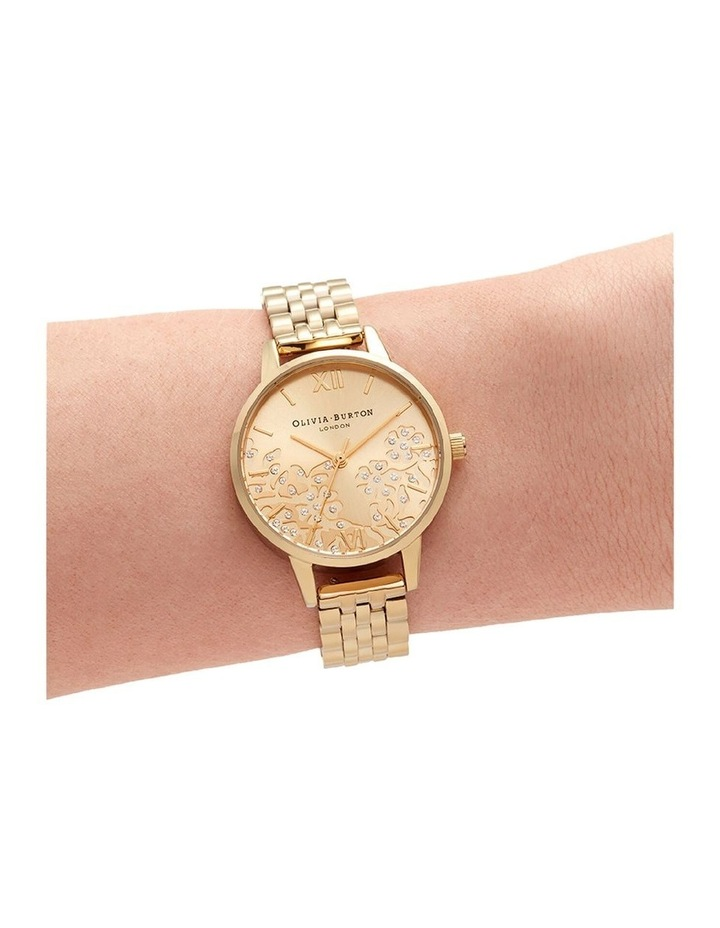 Ob16Mv105 Bejewelled Lace Gold Bracelet Watch image 4