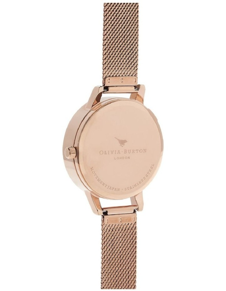 Ob16Pp40 Watercolour Florals Collection Rose Gold Case Rose Gold Mesh Strap image 3