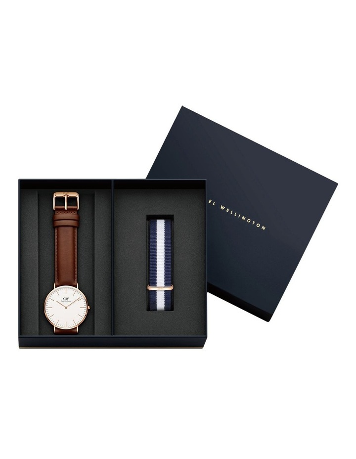 DW00500564 Men's Gift Pack Rose Watch and Nato Strap image 1