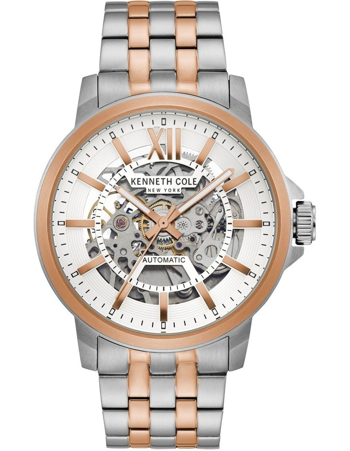KC50779006 Skeleton Automatic Mens Two Tone Watch image 1