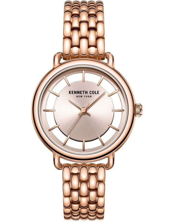 KC50790002 Transparency Ladies Rose Gold Watch image 1
